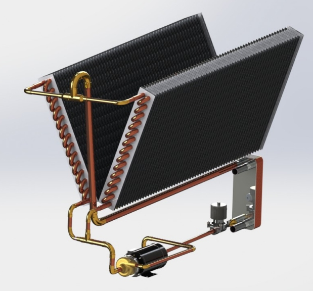 DXFC-water-to-air-heat-exchanger