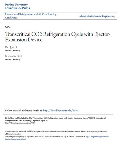 Transcritica-Co2-refrigerazione a ciclo-con-estrattore-Expansion-dispositivo
